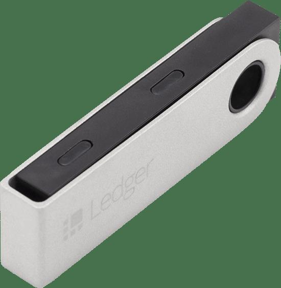 Hardware Wallet Ledger Nano S ingeklapt