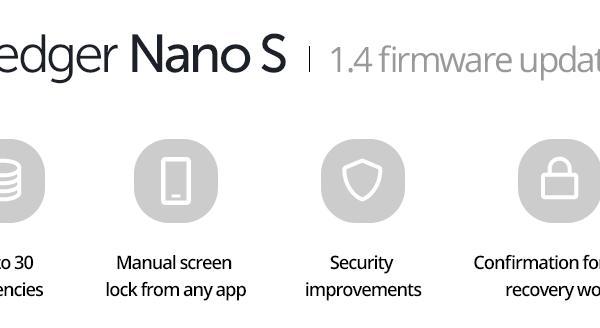 Ledger Nano S Firmware 1.4