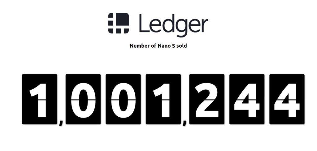 miljoen Ledgers verkocht