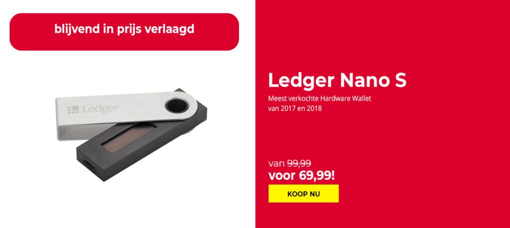 Ledger Nano S in prijs verlaagd