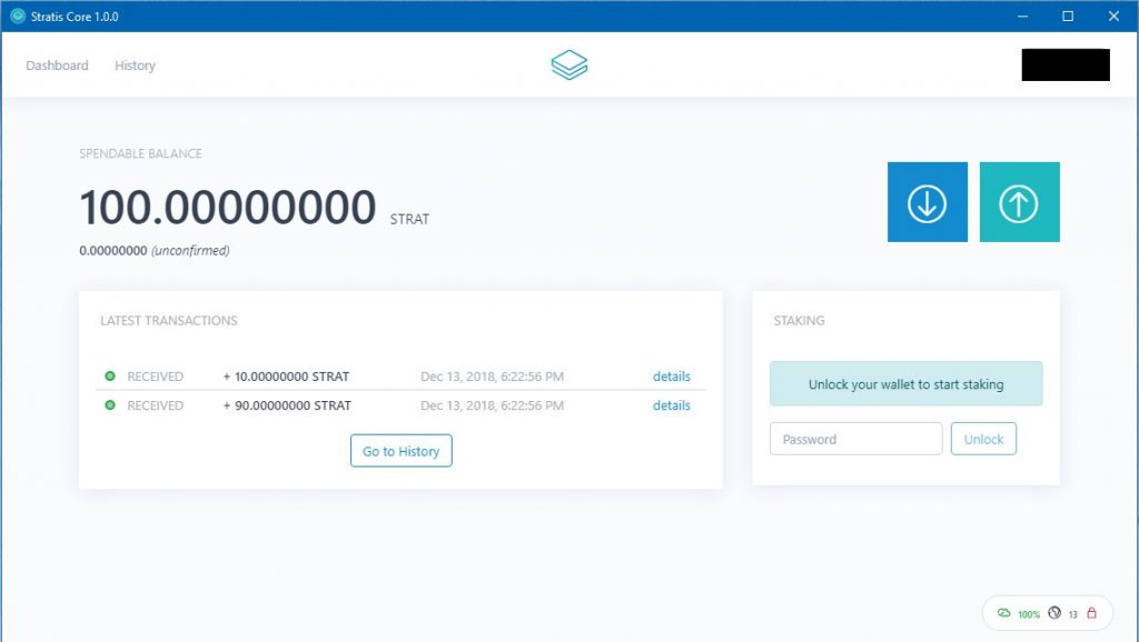 Stratis Core Wallet
