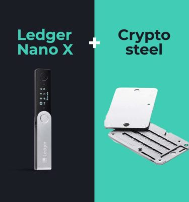 Ledger Nano X en Cryptosteel bundel