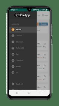 BitBox02 op mobiele telefoon