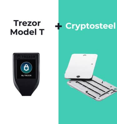 Trezor Model T en Cryptosteel bundel