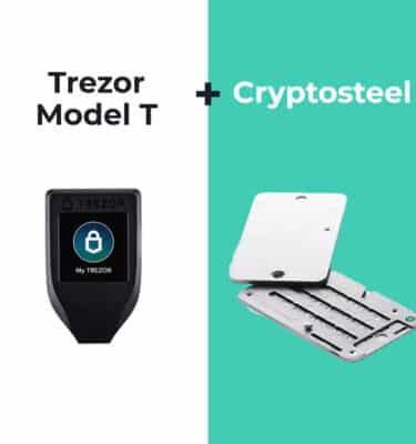 Trezor Model T en Cryptosteel bundel